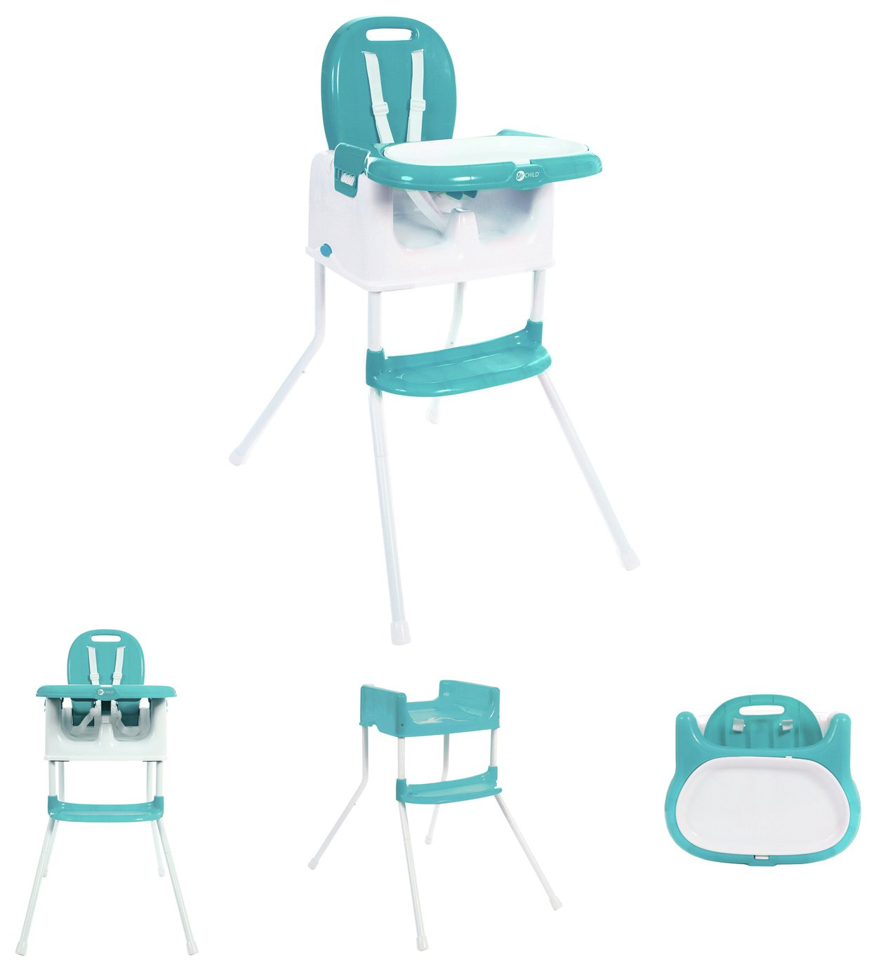 MyChild Graze 3 In 1 Multi Highchair - Aqua