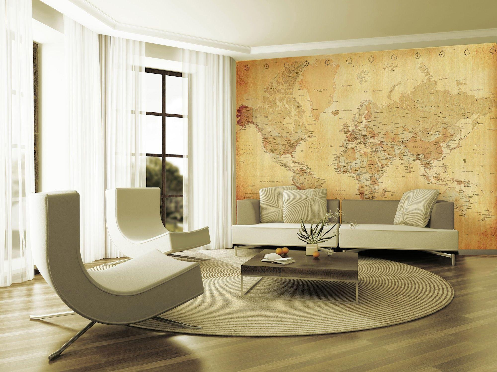 1Wall - Vintage Map - Wall Mural