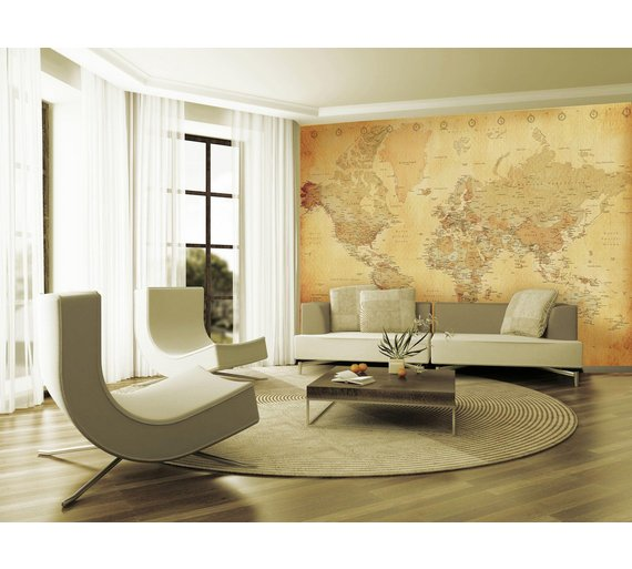 Buy 1wall vintage map wall mural murals and wall stickers argos click to zoom gumiabroncs Choice Image