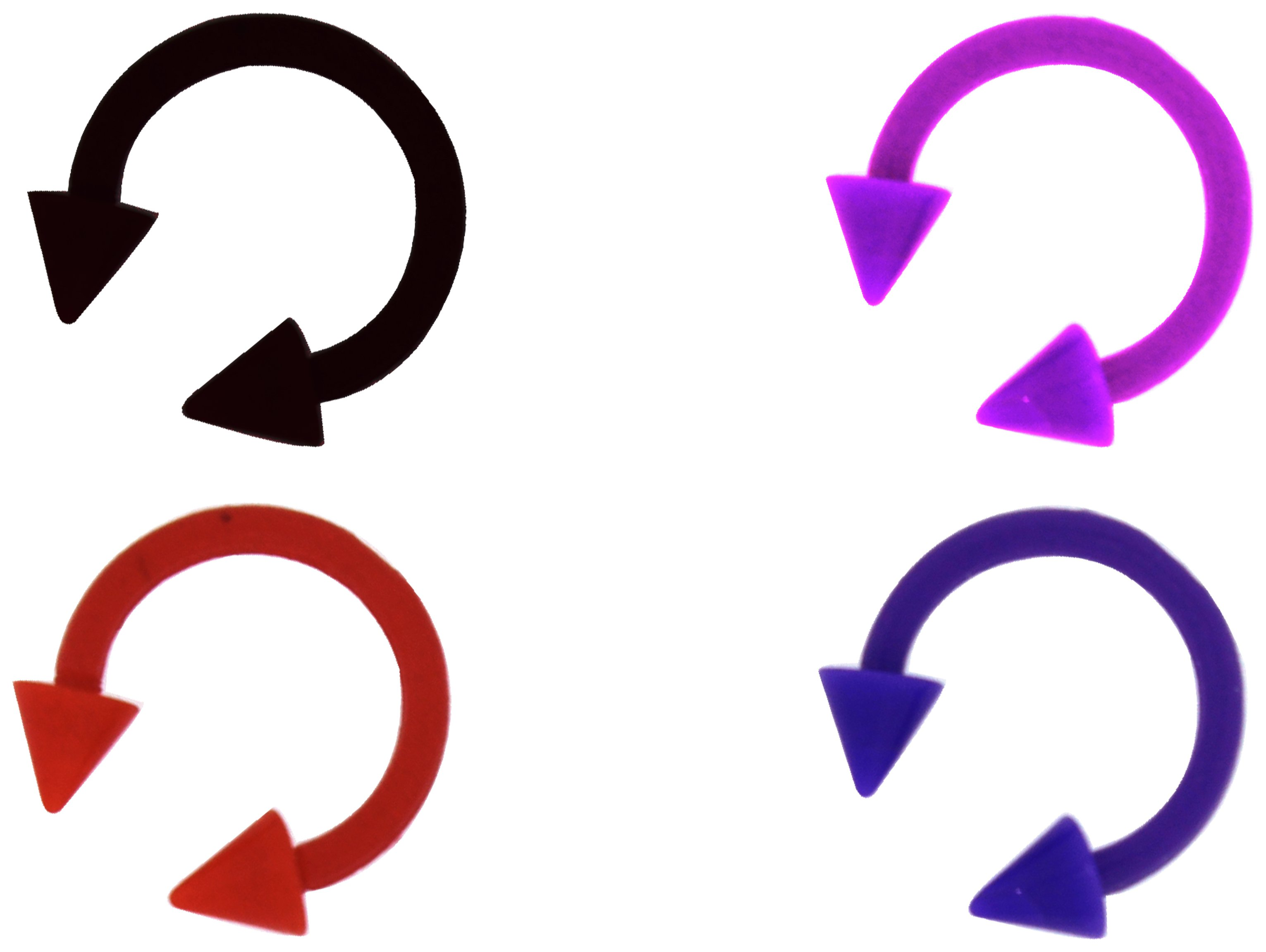 Link Up - Bioflex Multicoloured Arrow Eyebrow Bars - Set of 4.