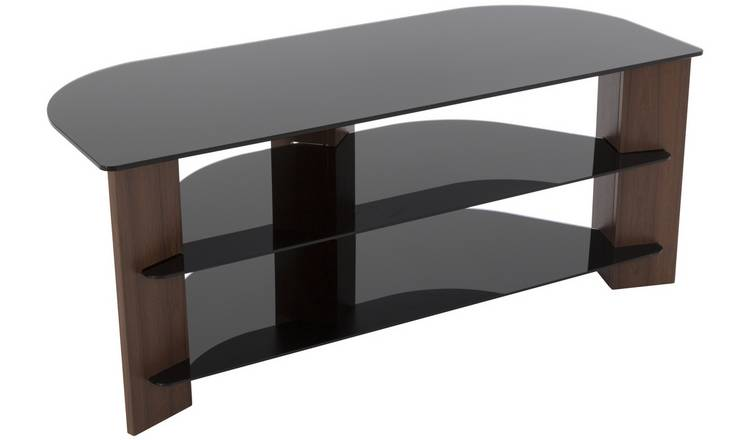 bbf818cd6f Buy AVF Up to 55 Inch TV Stand - Black Glass and Walnut Effect | TV ...