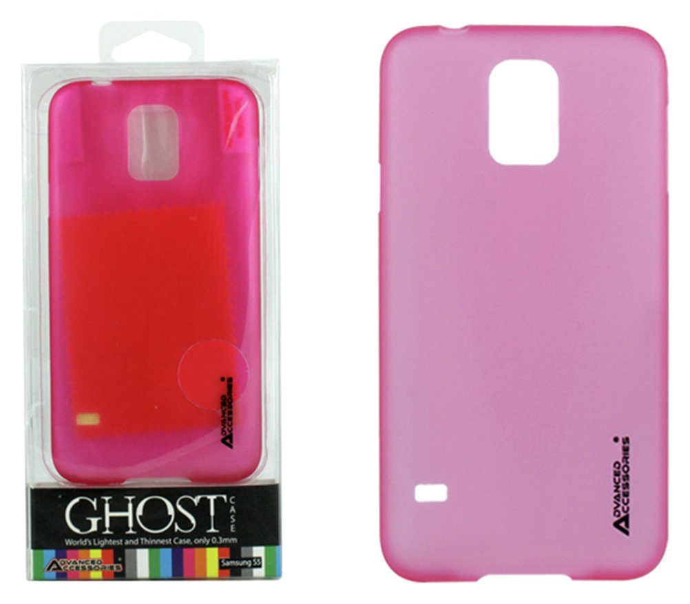 Image of Advanced Accessories Samsung Galaxy S5 Ghost Case - Hot Pink
