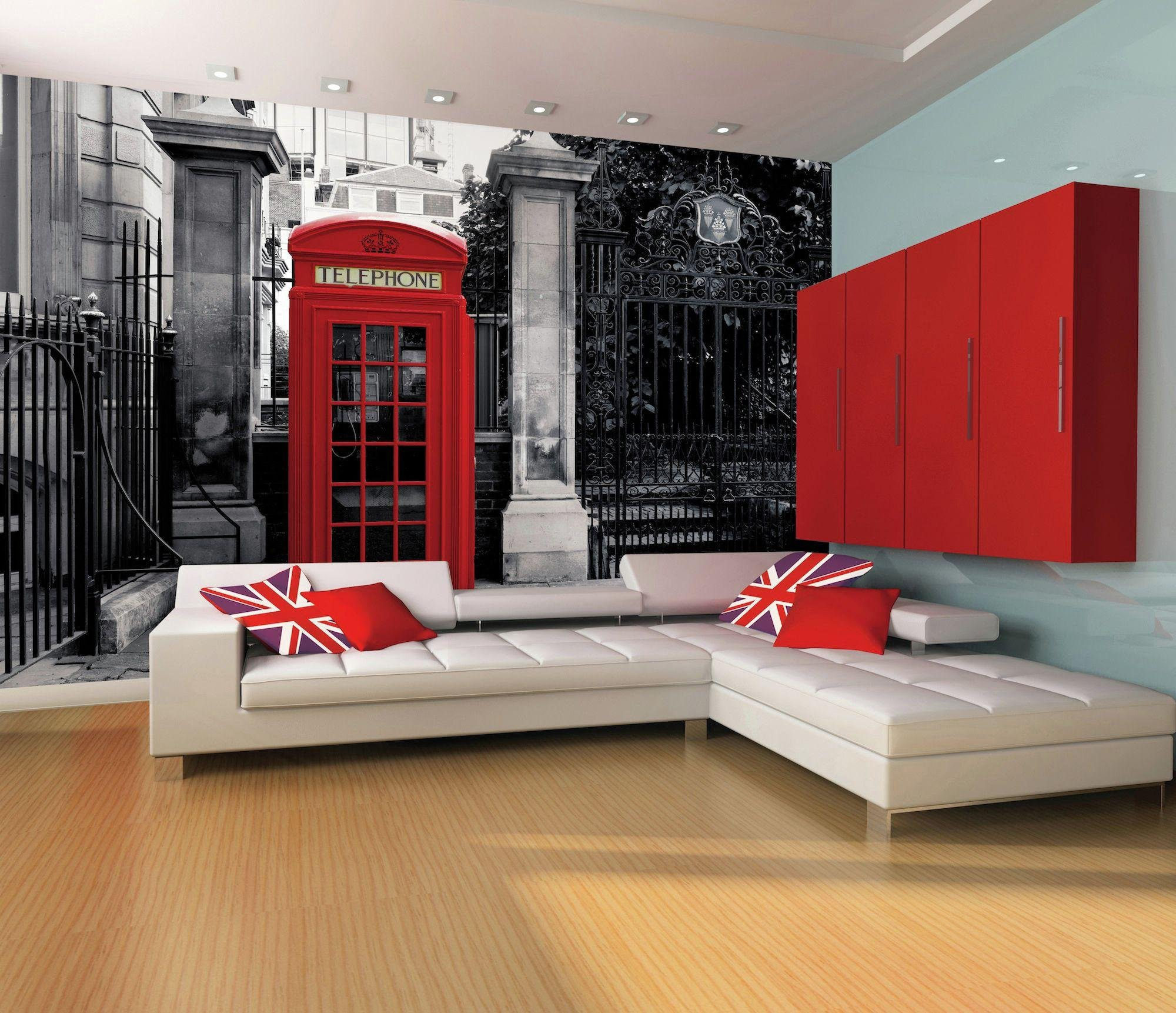 1wall  london telephone box  wallpaper mural
