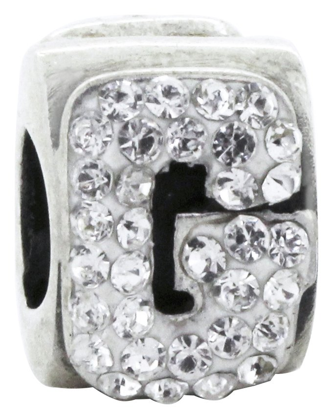 Link Up Sterling Silver Alphabet Bead Charm - G