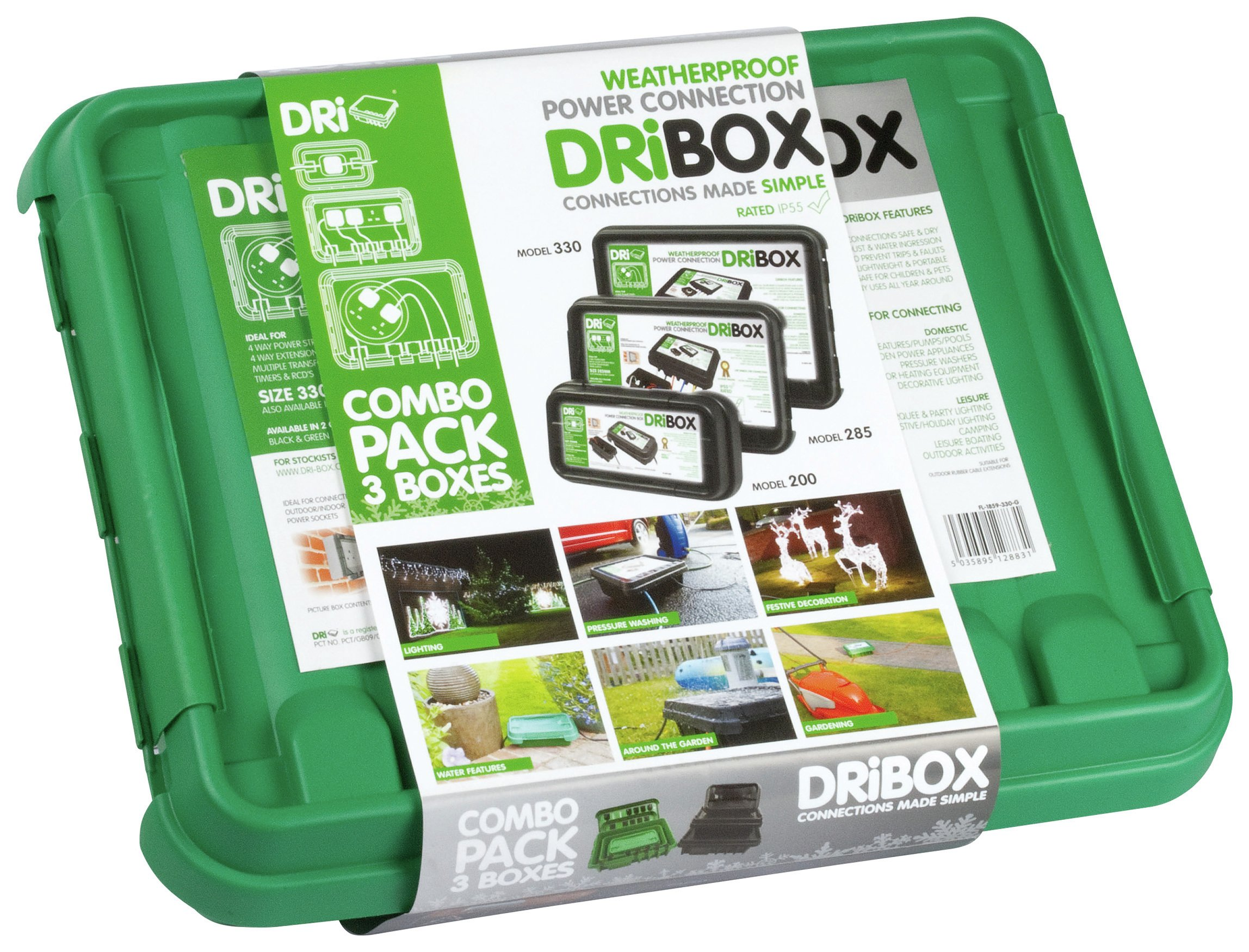 DriBox - IP55 Tripple Combo Pack - Green lowest price