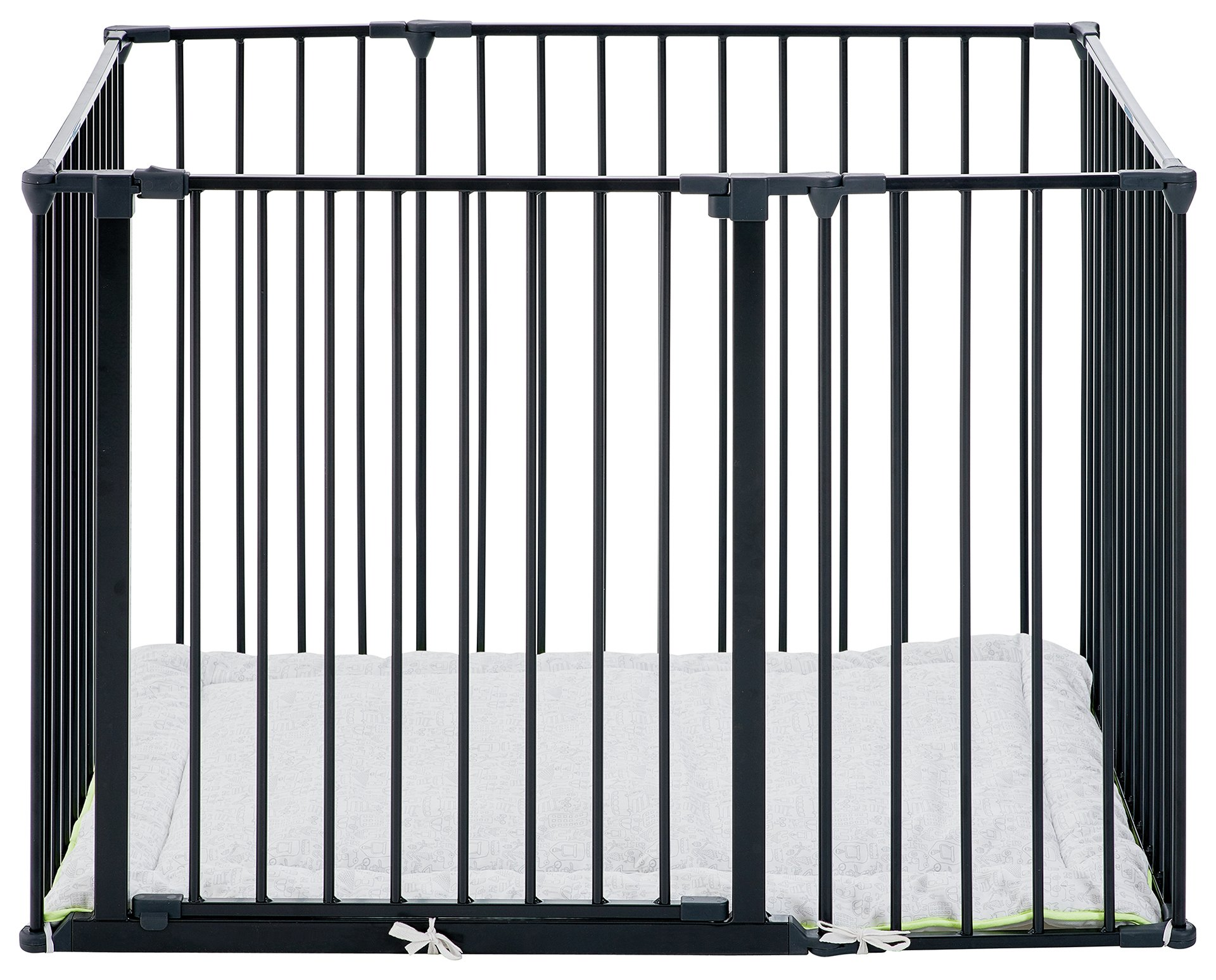 BabyDan Square Metal Playpen - Black