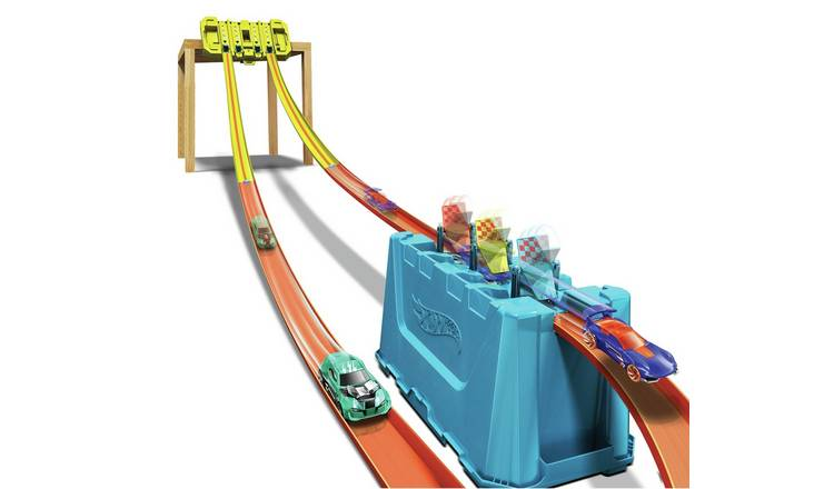Hot Wheels Track Builder Multi-Lane Speed Gravity Box