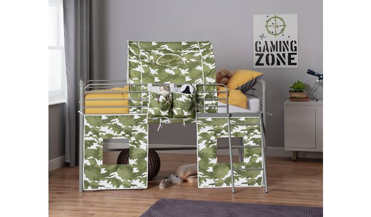 Argos Home Camo Tunnel & Tent for Kids Mid Sleeper
