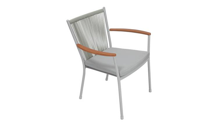 Argos Home Polywood Chair - Grey