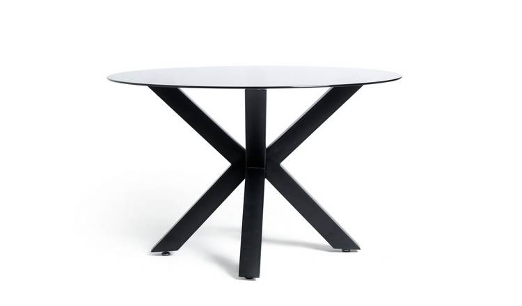 Argos Home Alden 4 Seater Dining Table - Smoked Glass