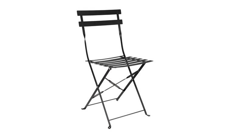 Argos Home Eve Metal Garden Chair - Black