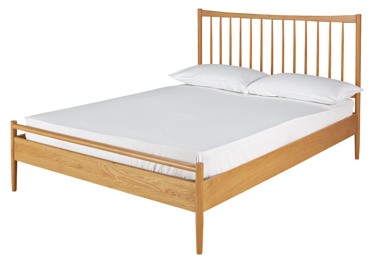 Argos Home Chiltern Spindle Kingsize Bed Frame - Oak