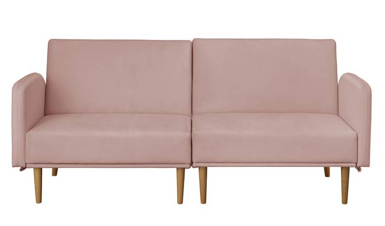 Argos Home Neyo 2 Seater Velvet Sofa Bed - Pink