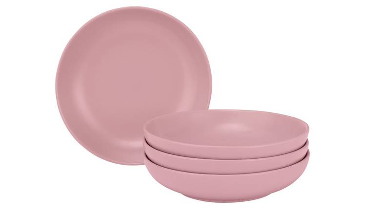 Argos Home Brights Set of 4 Pasta Bowls - Matt Pink