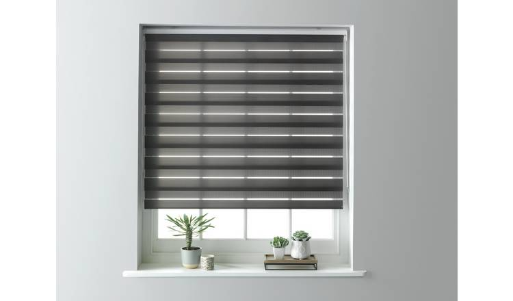 Argos Home Day and Night Roller Blind - 3ft - Grey