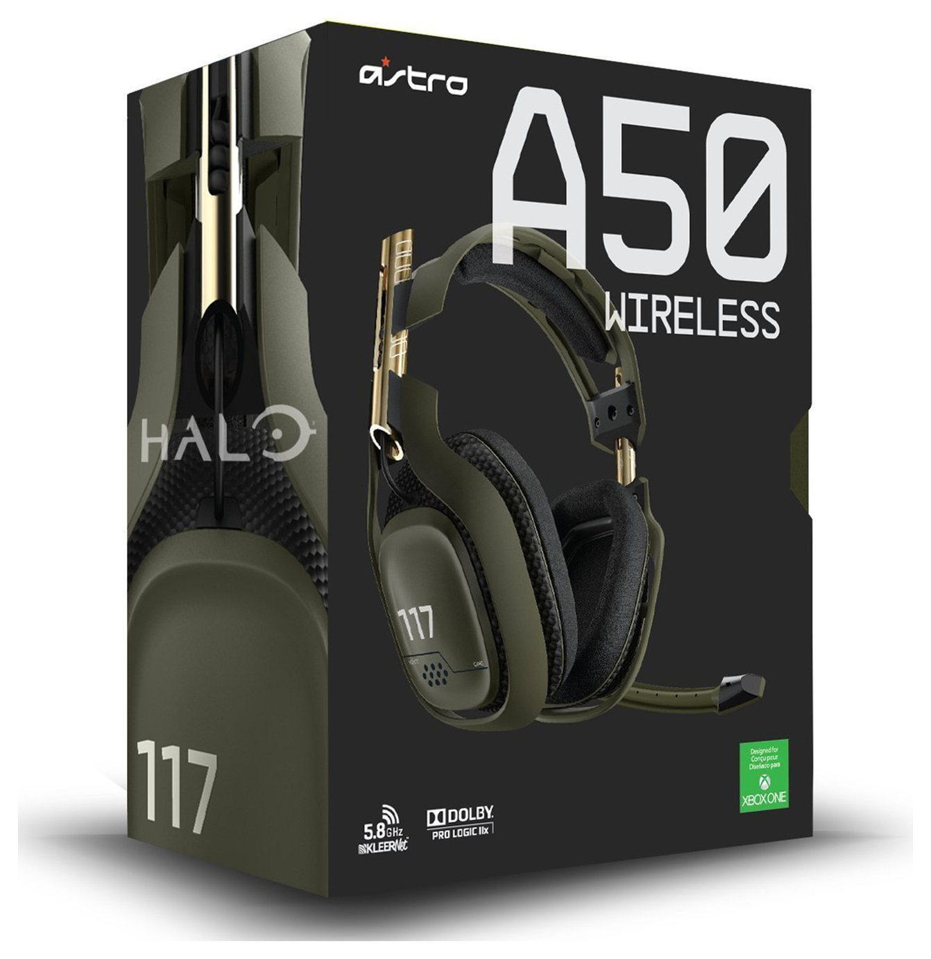 Image of Astro A50 Wireless Audio System Halo Edition for Xbox One.