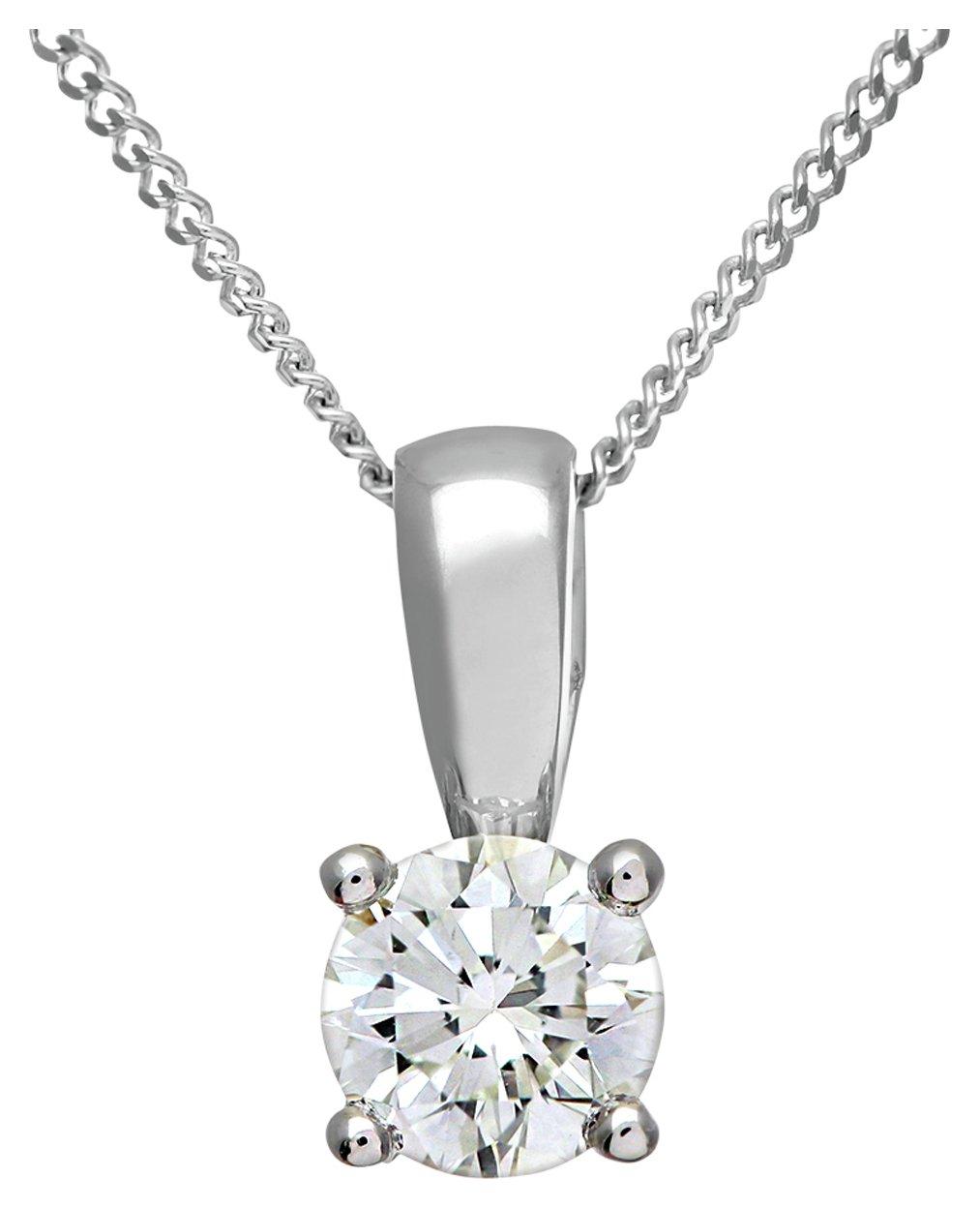 Image of Everlasting Love - 18 Carat W Gold - 0.50 Carat Diamond Pendant Necklace