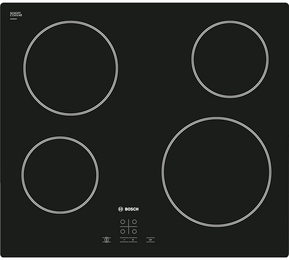Buy bosch pke611d17e 4 zone quick therm hob black electric hobs bosch pke611d17e 4 zone quick therm hob black cheapraybanclubmaster Image collections