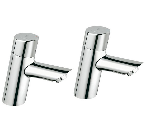 Buy Grohe Feel Basin Pillar Taps | Bathroom taps and mixers | Argos