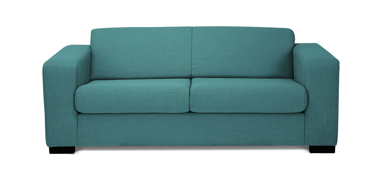 Buy Hygena New Ava 2 Seater Fabric Sofa Bed Teal At