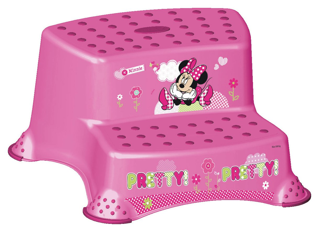 Image of Disney Minnie Mouse Double Step Stool.