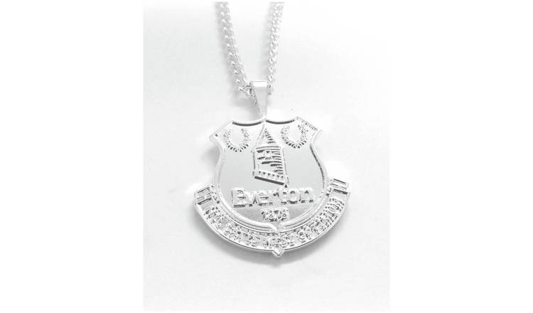 Silver Plated Everton Pendant and Chain.