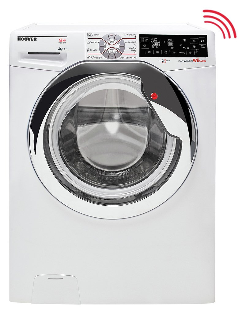 Image of Hoover - Wizard DWTL49AIW3 9KG Wi-Fi - Washing Machine- Ins/Rec