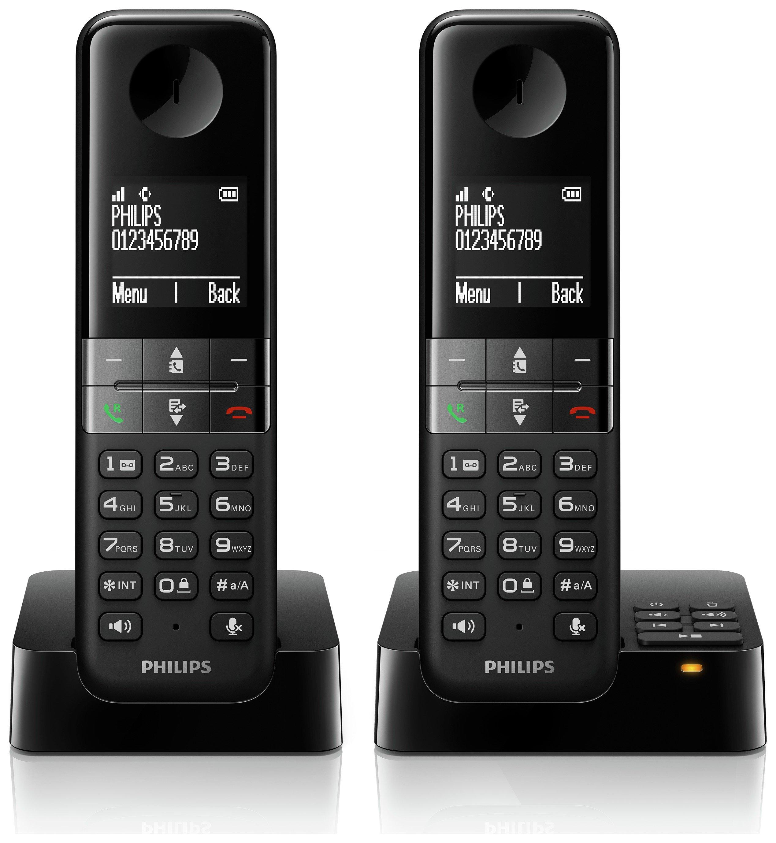 Philips - D4552B 05 Twin - Cordless Telephone