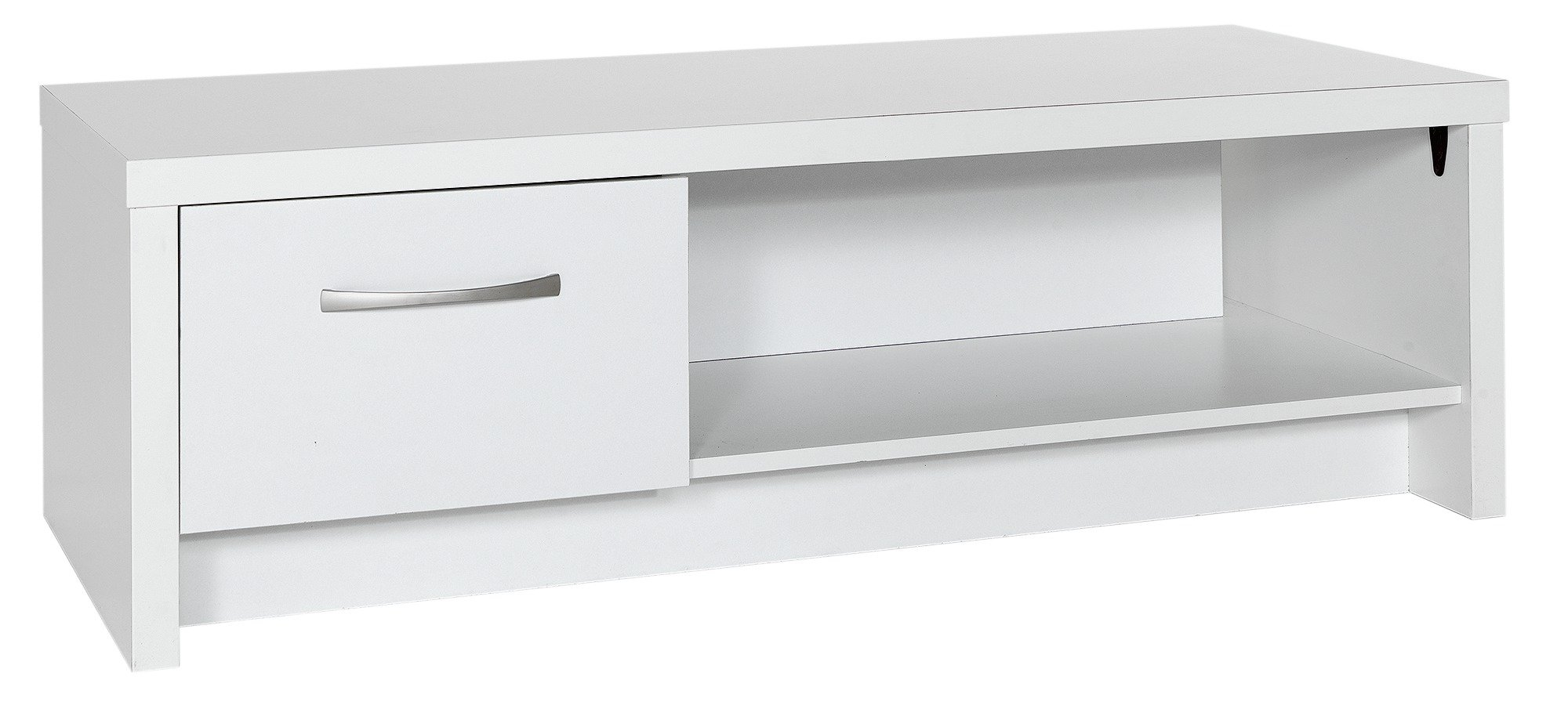 collection  venice 1 drawer  coffee table and tv unit  white