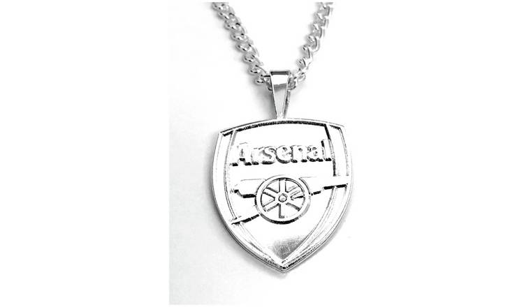 Silver Plated Arsenal Pendant and Chain.