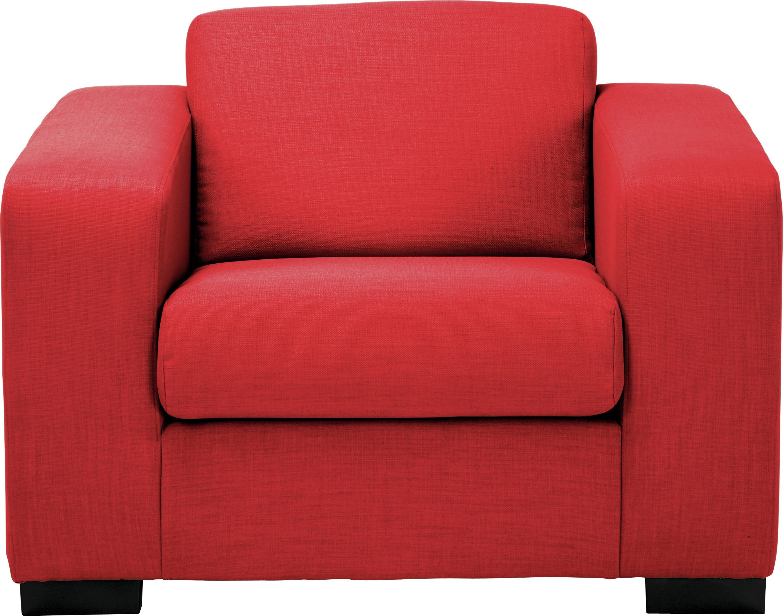 Image of Hygena - New Ava - Fabric Chair - Red
