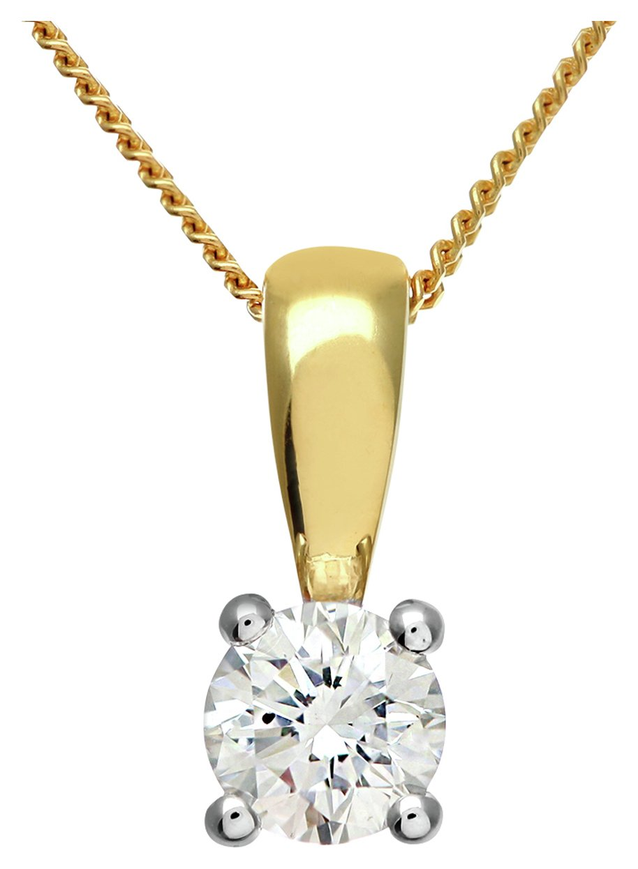 Image of Everlasting Love 18ct Gold 0.33ct Diamond Pendant Necklace.