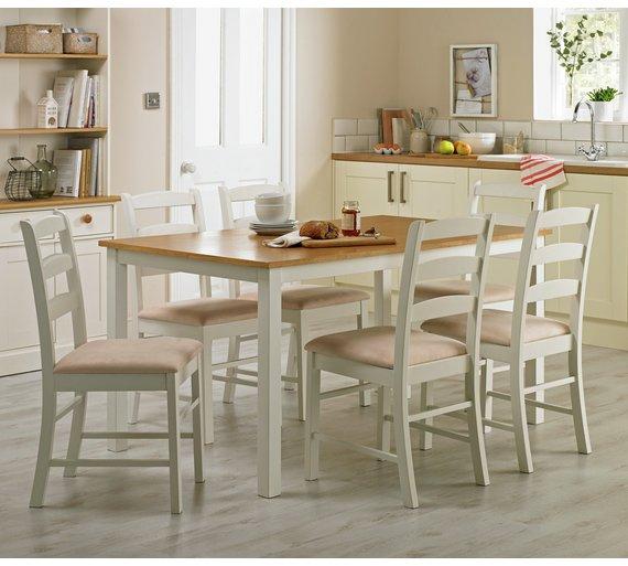 Buy Collection Hamstead Oak Veneer Table 6 Chairs