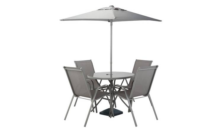 Argos Home Sicily 4 Seater Patio Set - Grey