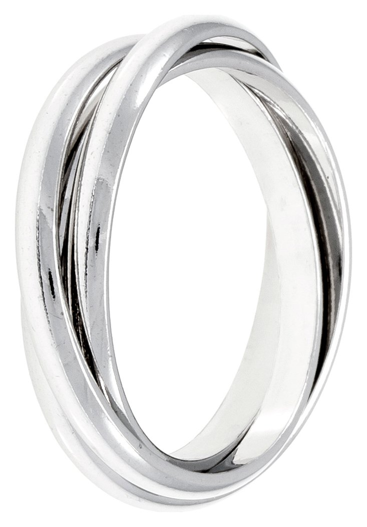 Revere Sterling Silver Three Band Ring - N
