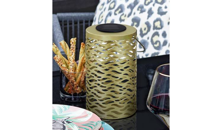 Argos Home Wilderness Metal Animal Print Solar Lantern