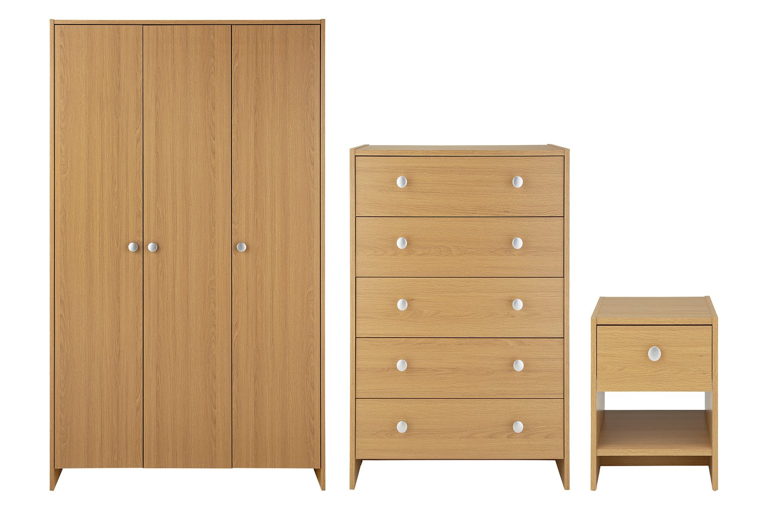 Argos Home Seville 3 Piece 3 Door Wardrobe Set - Oak Effect