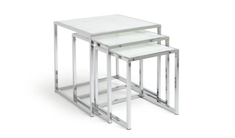 Argos Home Boutique Nest of 3 Tables - Marble Effect