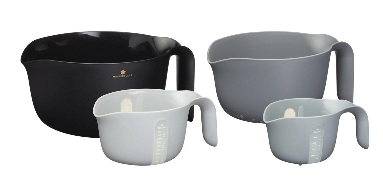 MasterClass Set of 4 Multi Function Mixing Bowls
