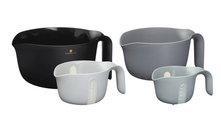 MasterClass Set of 4 Multi Function Mixing Bowls