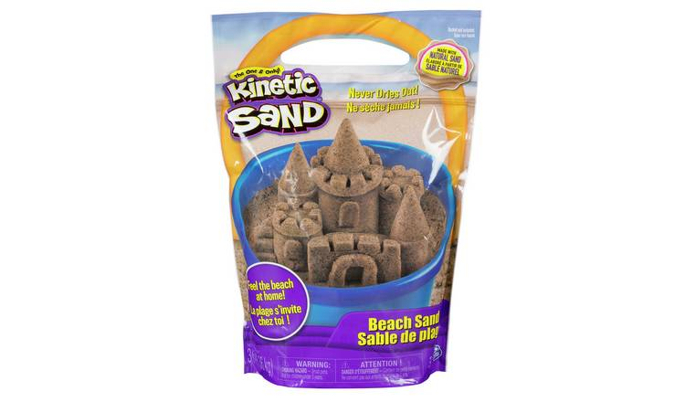 Buy Kinetic Sand 3lb Natural Beach Sand Toy Craft Kits Argos