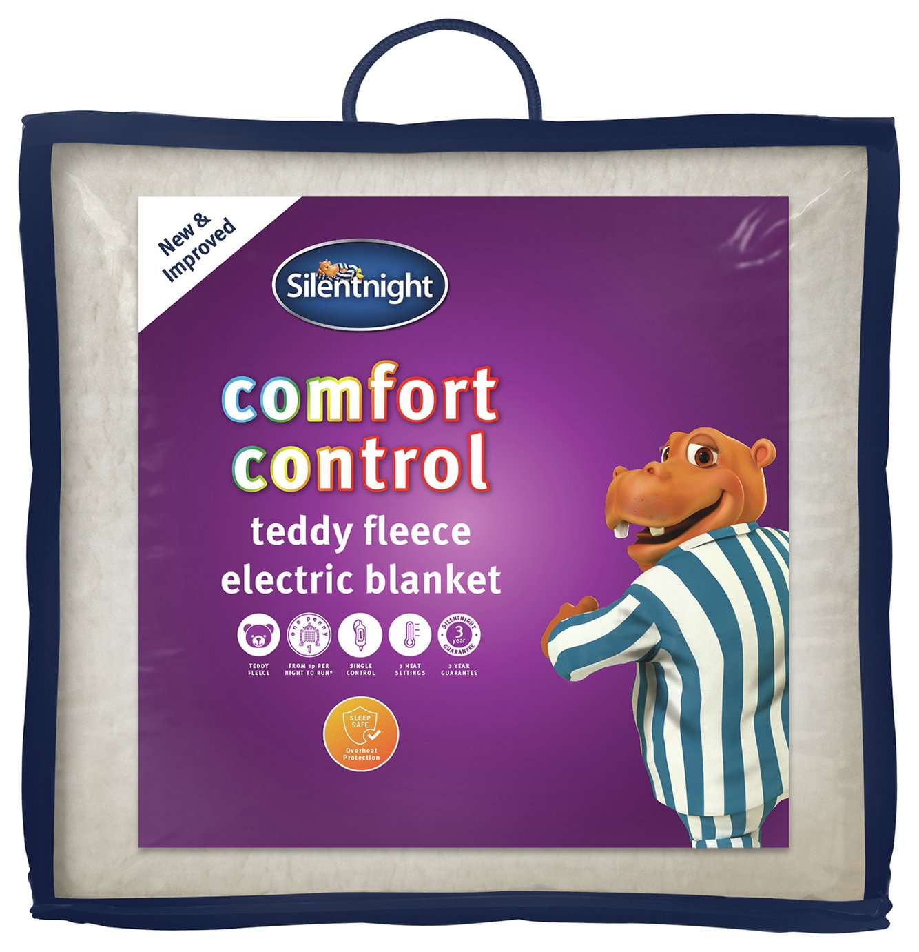 Silentnight Winter Nights Fleece Heated Underblanket -Single
