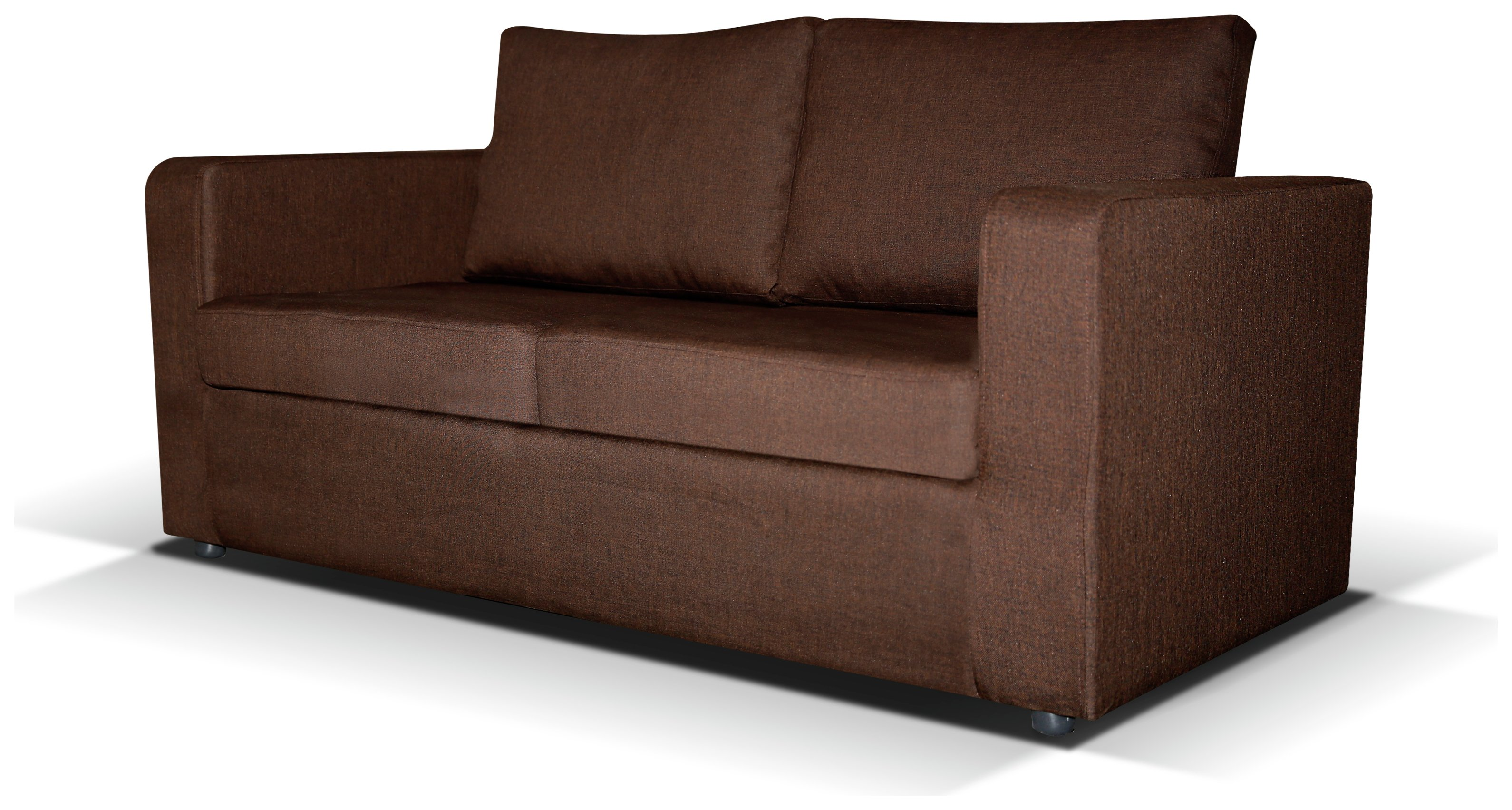 Image of Max - 2 Seater Fabric - Sofa Bed - Chocolate