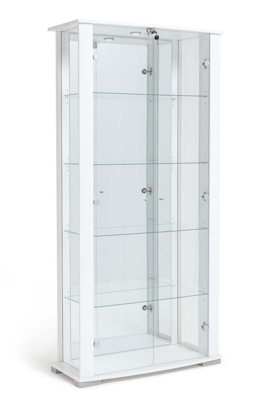 Argos Home Stella 2 Door Glass Display Cabinet - White Gloss