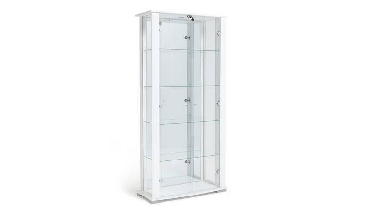 Argos Home Stella 2 Door Glass Display Cabinet - White Gloss