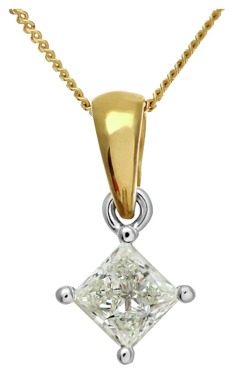 Image of Everlasting Love 18ct Gold 0.50ct Diamond Pendant Necklace.