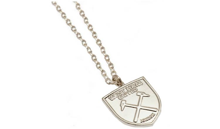 West Ham United FC Silver Plated Pendant and Chain