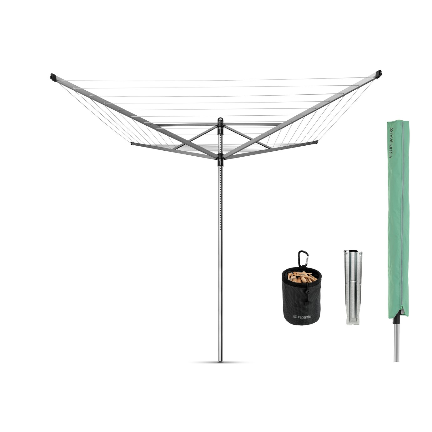 Image of Brabantia 50m 4 Arm Lift-O-Matic Washing Line & Accessories