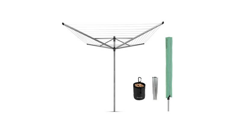 Brabantia 50m Lift-O-Matic Washing Line with Ground Spike