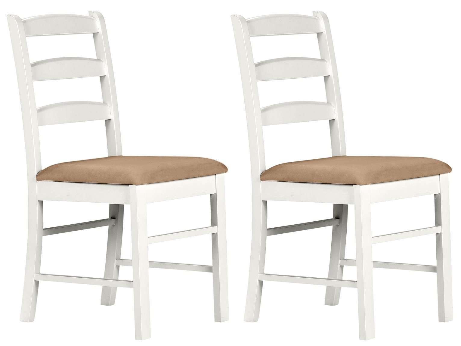 Image of Collection Hamstead Pair of Cream Dining Chairs
